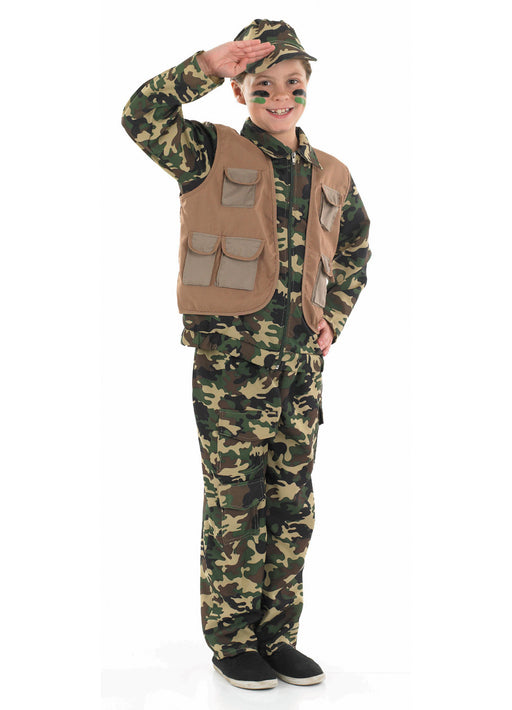 Army Boy Costume Child