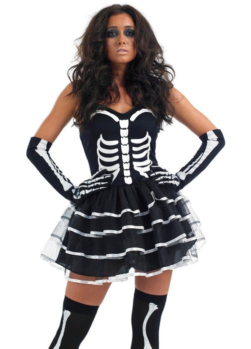 Skeleton Tutu Costume Adult