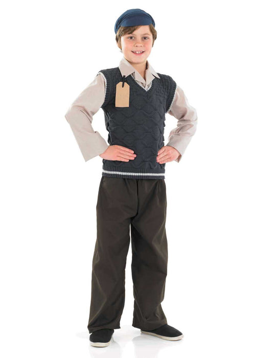Evacuee School Boy Costume Child
