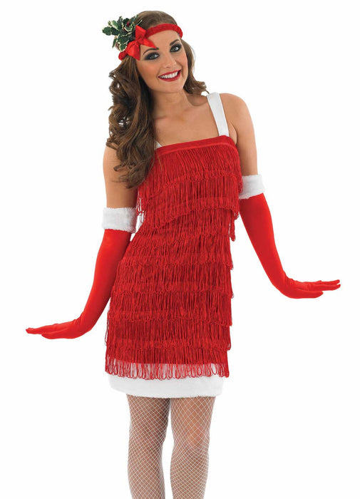 Christmas Flapper Costume Adult