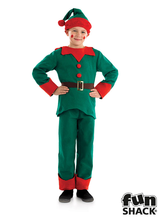 Green Elf Costume Child