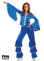 Blue Dancing Queen Costume Adult
