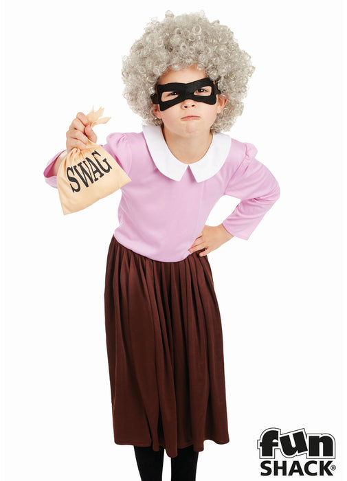 Burglar Granny Costume Child