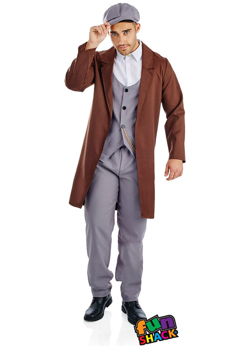 Peaked Cap Gangster Costume Adult