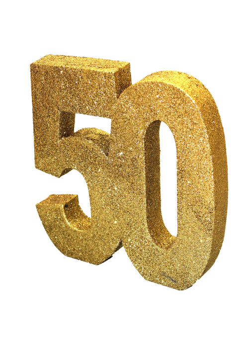 Gold Age 50 Glitter Table Decoration