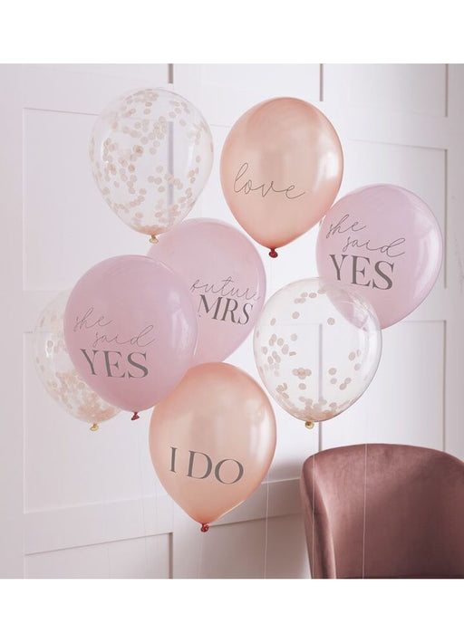 Blush Hen Party Balloons 8pk