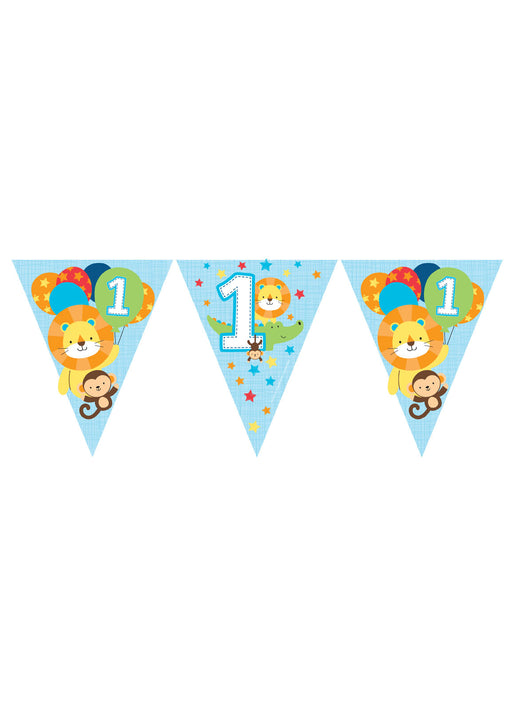 One Is Fun Boy Party Bunting
