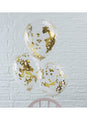 Gold Confetti Latex Balloons 5pk