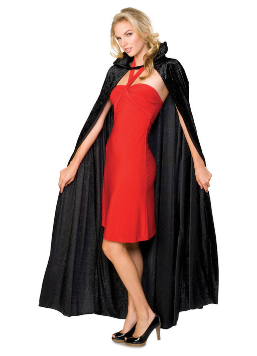 Long Crushed Velvet Unisex Cape