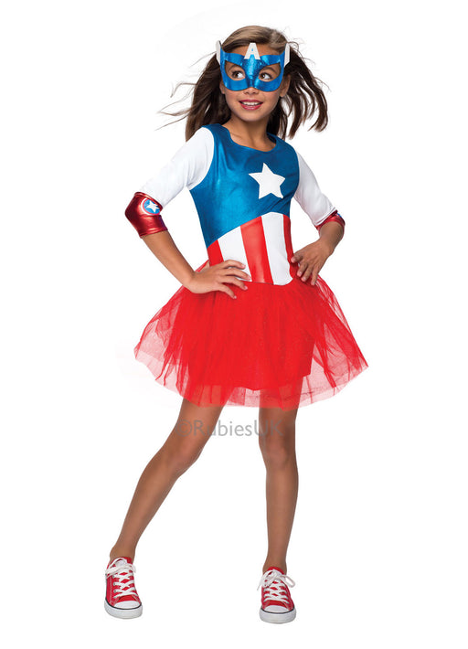 Captain American Girls Costume Child