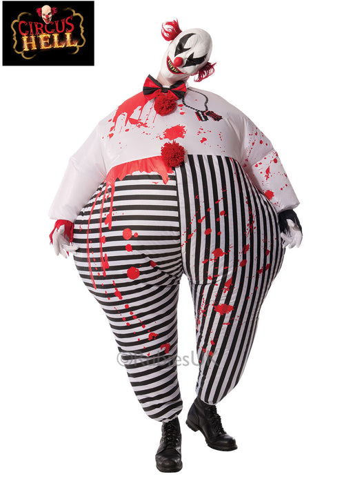 Inflatable Evil Clown Costume Adult