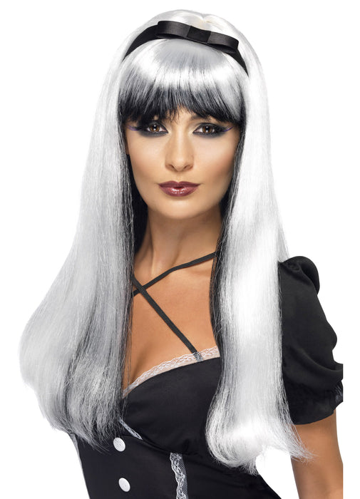 Black & Silver Bewitching Wig