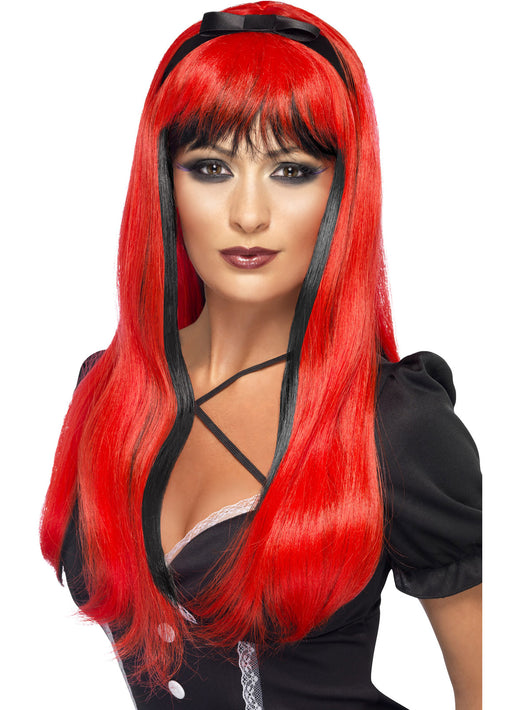 Black & Red Bewitching Wig