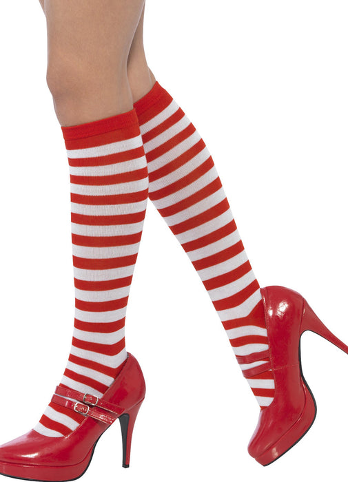 Long Striped Elf Socks