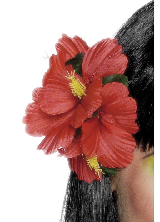 Red Hawaiian Hair Clip