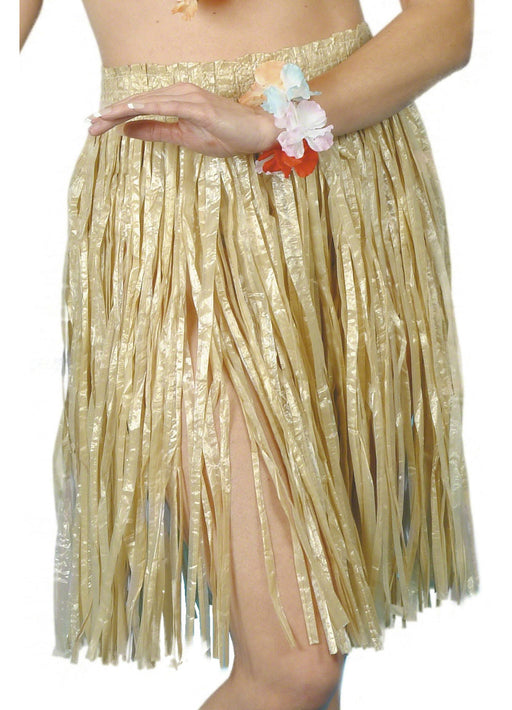 Hula Skirt Grass Coloured 56cm Long