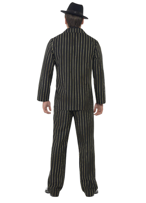 Gold Pinstripe Gangster Costume Adult