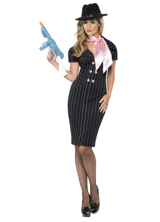 Pink Gangsters Moll Costume Adult