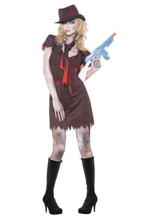 Zombie Gangster Female Costume Adult