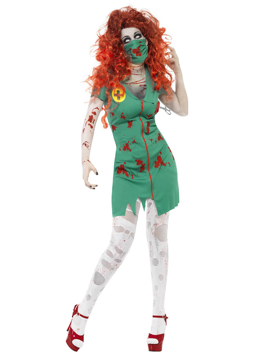 Zombie Scrub Nurse Costume Adult
