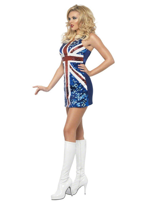 Rule Britannia Sequinned Dress Adult