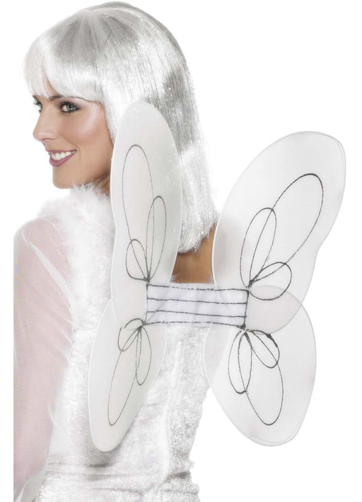White Glitter Angel Wings
