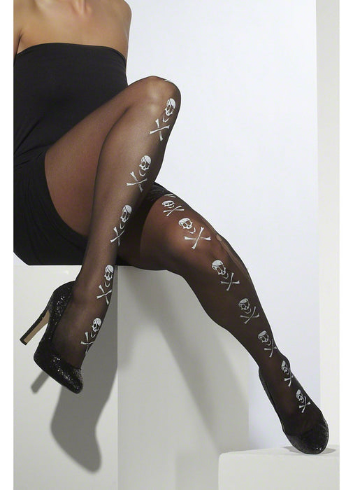 Skull & Bones Black Tights