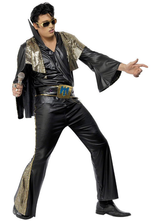 Elvis Black Deluxe Costume Adult