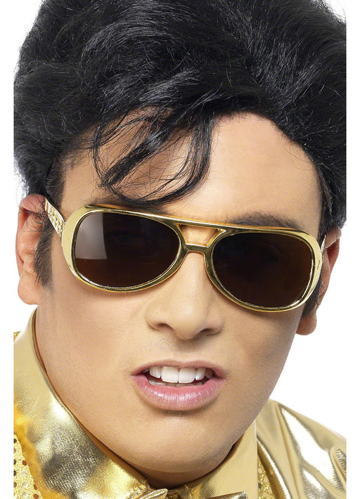 70's Elvis Shades - Gold