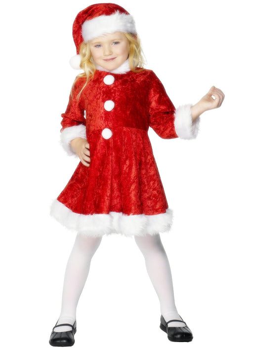 Mini Miss Santa Costume Child
