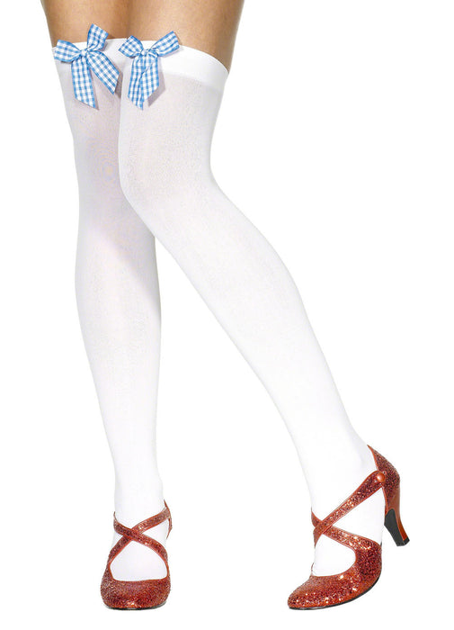 White Stocking With Gingham Bow