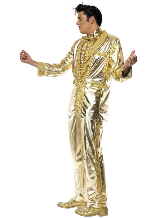 Elvis Gold Lame Costume Adult