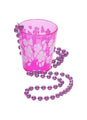 Hot Pink Shot Glass Necklace