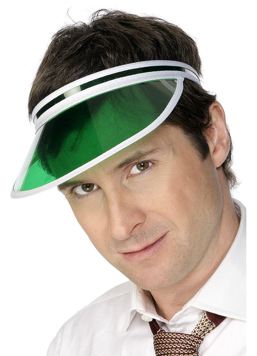 Green Poker Visor
