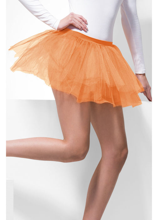 Neon Orange Tutu Underskirt Adult