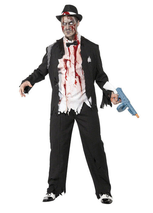 Zombie Gangster Costume Adult