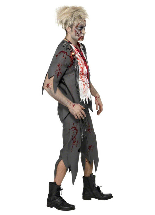 Zombie School Boy Costume Adult