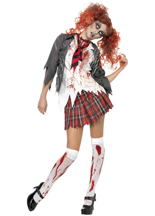 Zombie School Girl Costume Adult