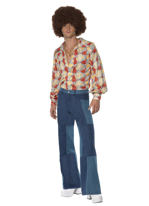 70's Patchwork Flares Adult