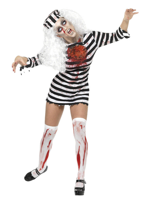 Zombie Convict Costume Adult
