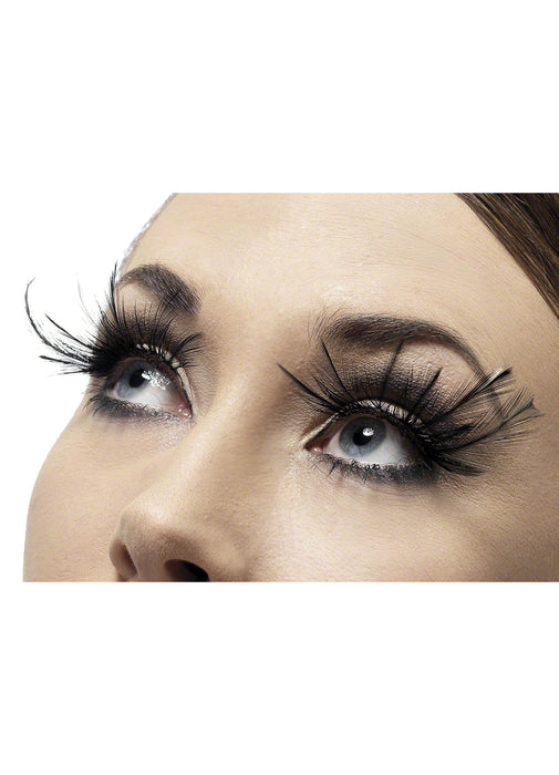 Long Black Feather Eyelashes