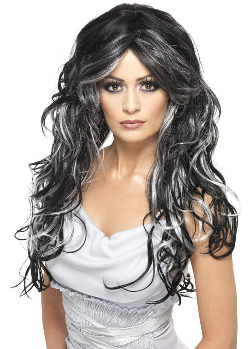 Gothic Bride Wig - Grey & Black