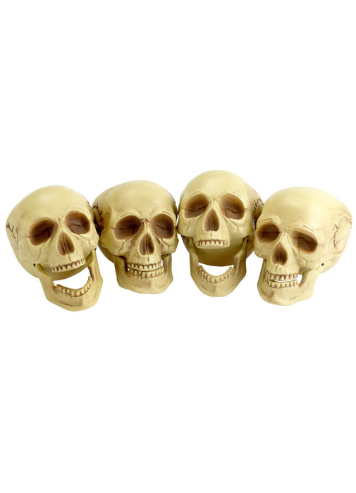 Skull Heads Decoration (Pack of 4)