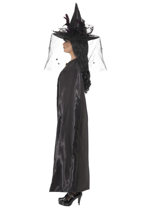 Deluxe Black Witch's Cape