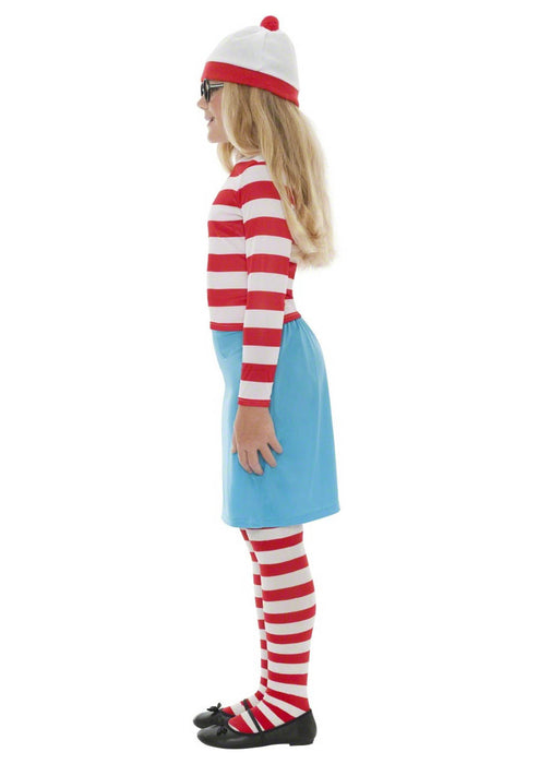 Where's Wally Girl Costume Child
