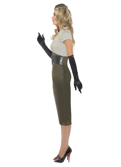 WW2 Pin Up Army Girl Costume Adult
