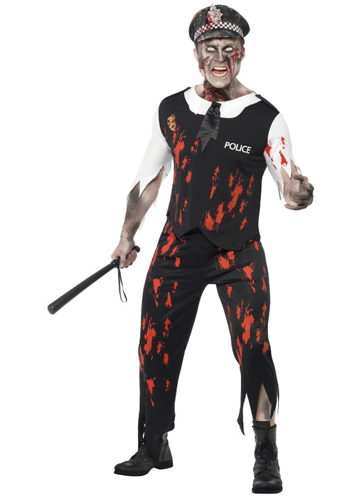 Zombie Policeman Costume Adult