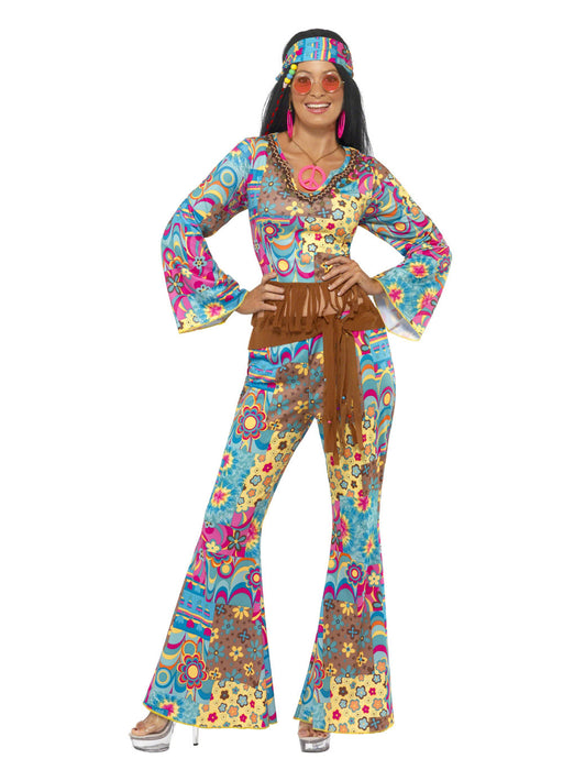 Hippy Flower Power Costume Adult