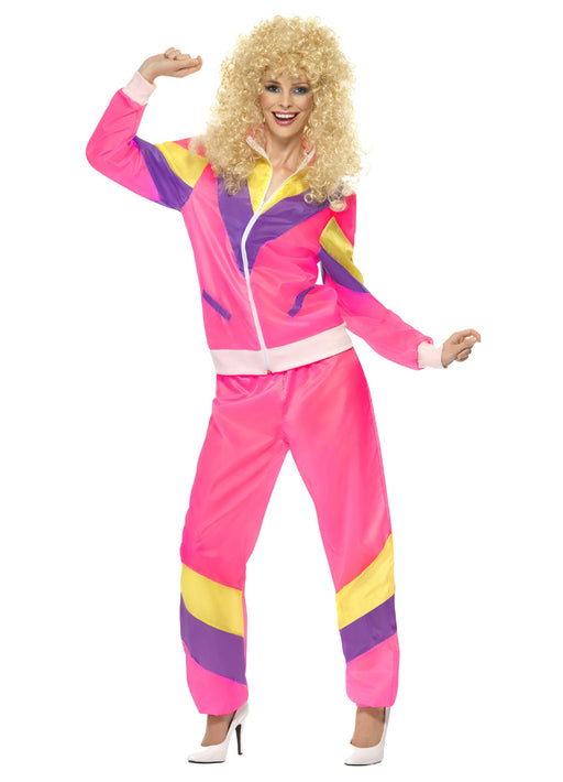 80's Pink Shell Suit Costume Adult