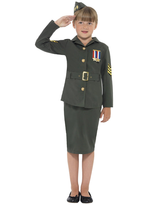 WW2 Army Girl Costume Child